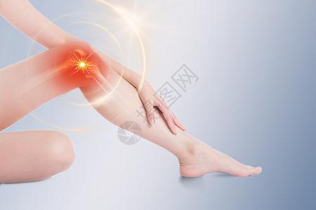 女性膝关节疼痛图片