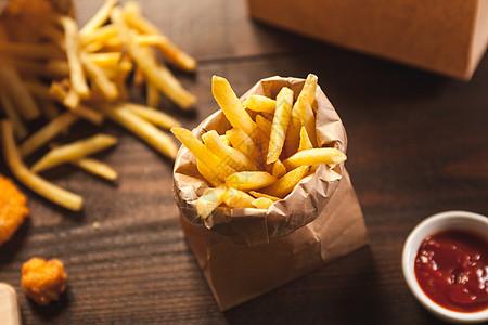 西式快餐 薯条图片