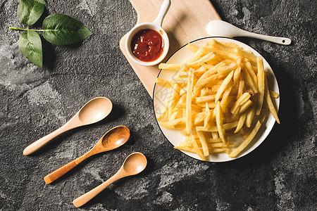 西餐 薯条图片