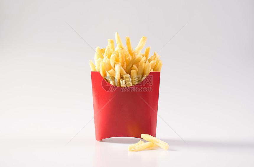 简约薯条拍摄图片