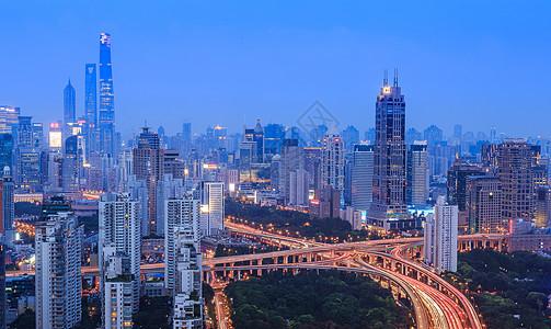 上海城市夜景风光图片