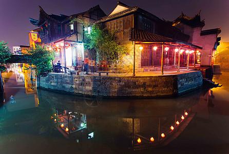 江南水乡西塘古镇夜景picture