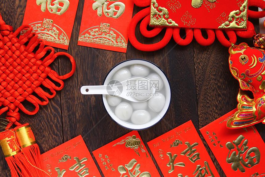 新年美食美味汤圆图片