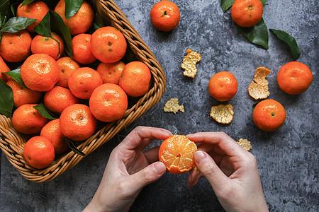 新鲜水果金桔图片