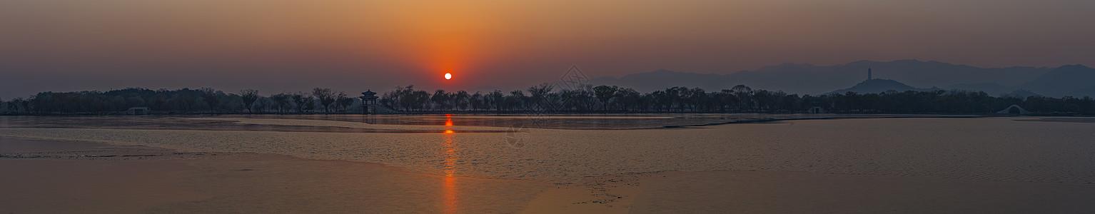 昆明湖全景图片
