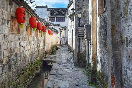 宏村里的小路图片