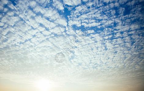 波纹云天空素材图片