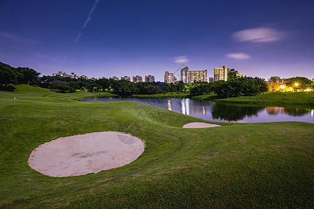 夜色高尔夫球场图片