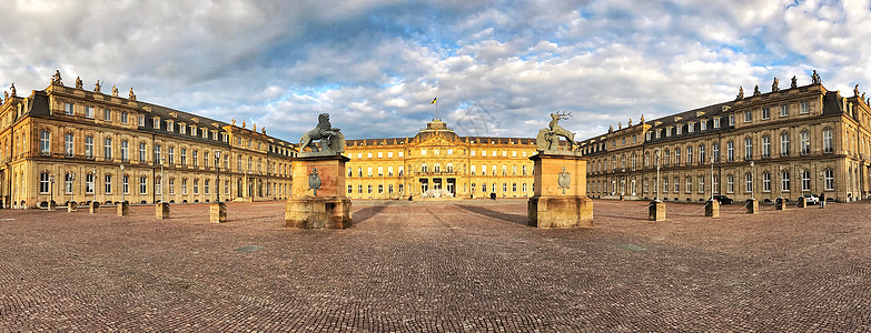 欧洲古典建筑广场全景图图片