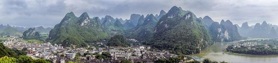 广西桂林兴坪全景图图片