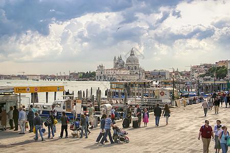 意大利威尼斯港口风光图片