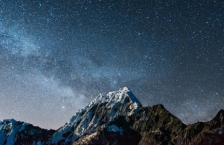 山峰星空背景图片