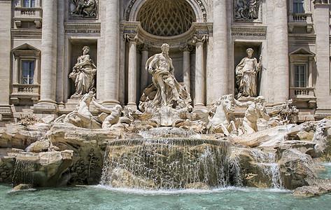 罗马特莱维喷泉许愿池图片