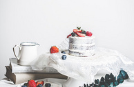 ins北欧风迷你裸蛋糕图片