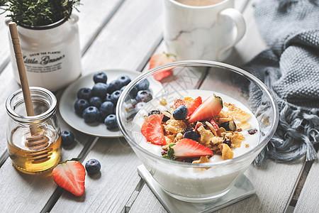 酸奶水果麦片甜品早餐下午茶图片