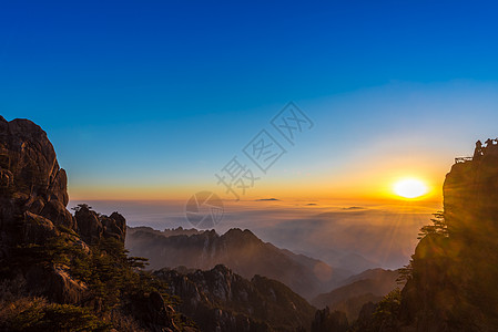 黄山日出风光图片
