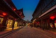 台儿庄古城夜景图片