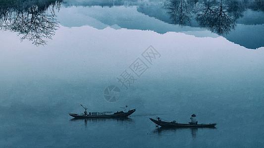 充满中国风韵味的水墨山水田园图片