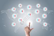 社交网络和虚拟触摸屏图片
