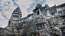 柬埔寨吴哥窟爱的天梯图片