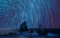 星轨背景图片
