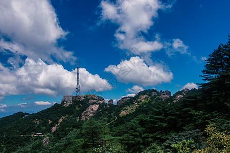 安徽黄山山顶蓝天白云图片
