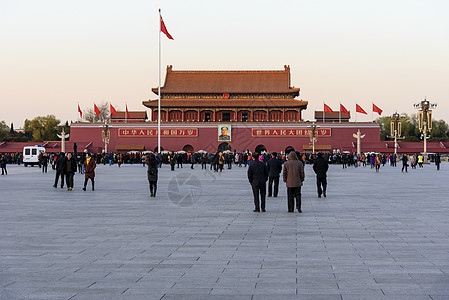 北京天安门广场升旗图片