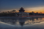 北京故宫角楼夜景图片