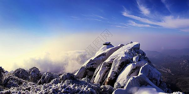 天柱山雪景图片