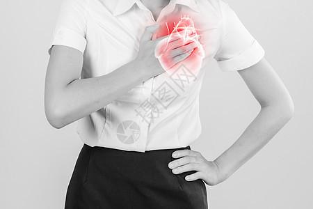 心脏疼痛 图片