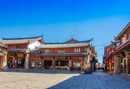 冬季丽江古城风光图片