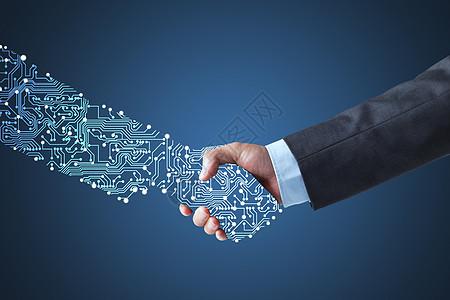 人工智能握手图片