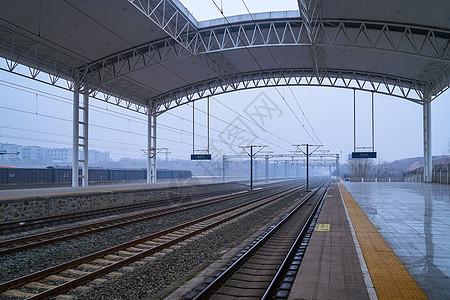 高铁站台背景图片