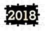 拼图中的2018图片