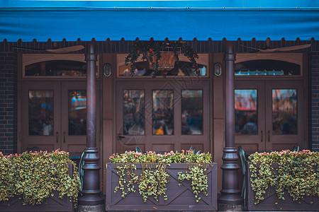 文艺咖啡店门口图片