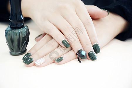 指甲油美甲图片