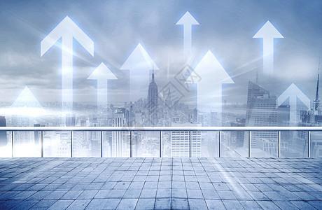 城市经济上涨图片