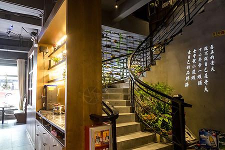店铺内景旋梯图片