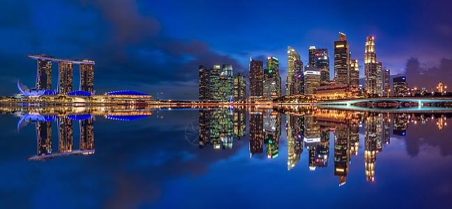 新加坡滨海湾全景高清大图图片