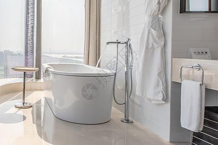 现代家居浴室一角图片