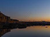 海边发电风车图片