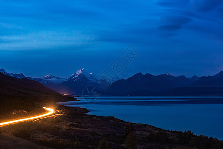 新西兰库克山的夜晚图片