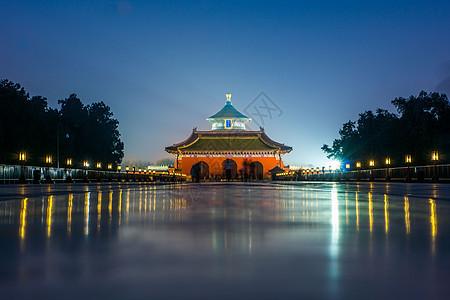 北京天坛夜景图片