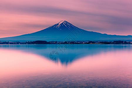 日本富士山夕阳图片