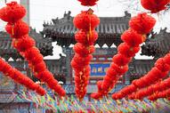 春节庙会红灯笼图片