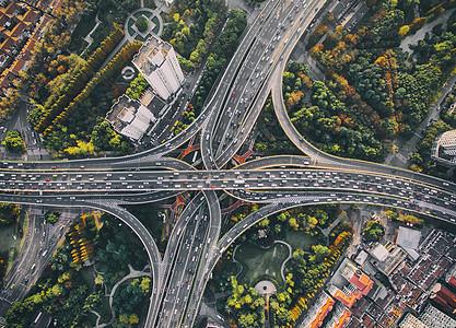 航拍上海延安高架桥图片