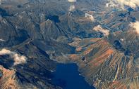 航拍新西兰山川湖泊地貌图片