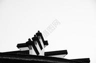 乌镇的黑白建筑图片