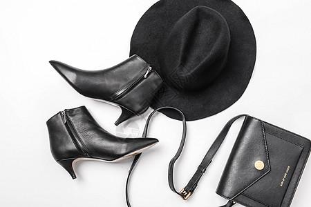 时尚高跟鞋与包包图片