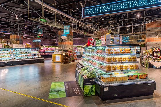 超市购置年货图片
